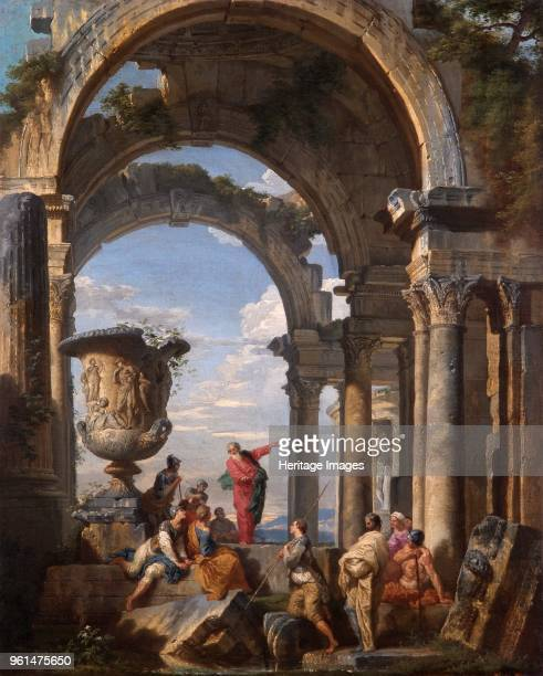 St Paul Preaching at Athens' 1737 Painting in Apsley House London Artist Giovanni Paolo Panini