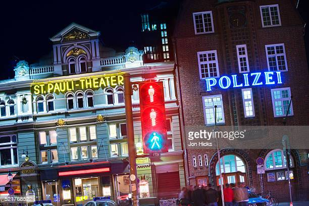 St. Pauli Theater and police station on the Reeperbahn