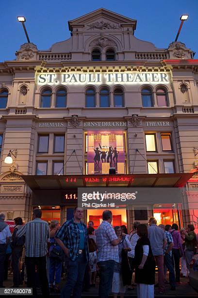 St Pauli theatre Reeperbahn and St Pauli Hamburg Germany