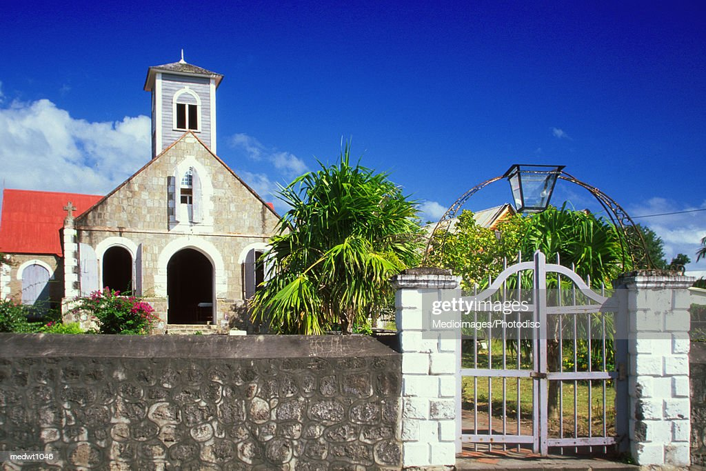 St. Paul's Anglican Church, Charlestown, Nevis, Caribbean : Stock Photo