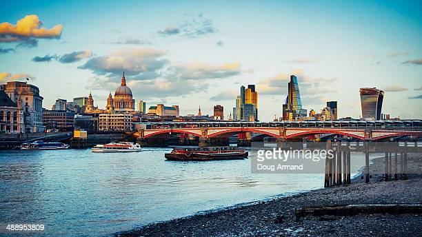 St Pauls Cathedral and London skyline at dusk