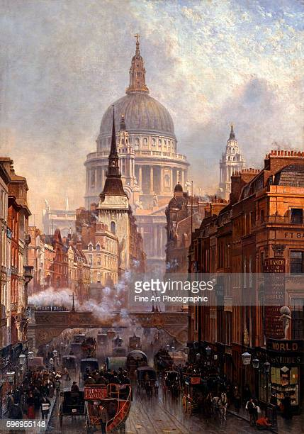 St Paul's Cathedral and Ludgate Hill London England by John O'Connor