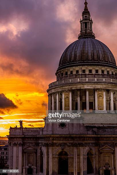 St Paul's Cathedral at sunset