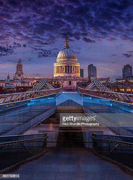 St. Pauls Cathedral by night, London, United Kingdom