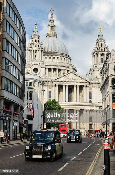 St Paul's Cathedral from Ludgate Hill, London