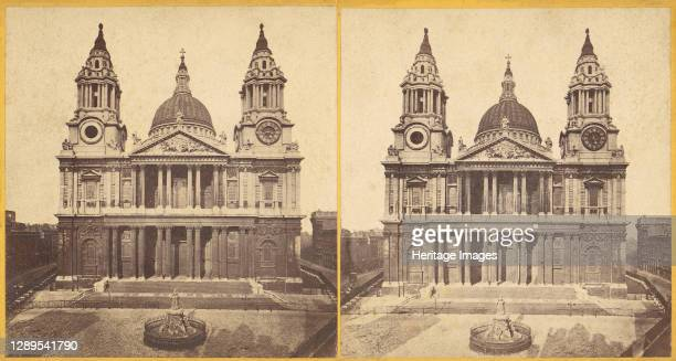St. Paul's Cathedral, London, 1850s-1910s. Artist E. Ryder.