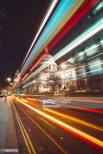 st. pauls cathedral - london nights - international landmark stock pictures, royalty-free photos & images