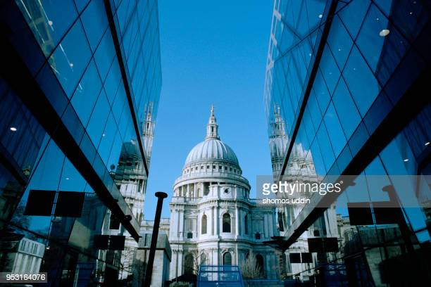 st paul's cathedral london - old london stock photos and pictures