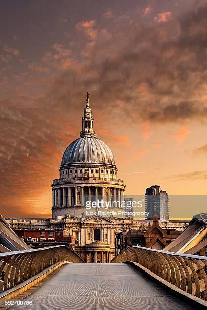 St. Pauls Cathedral sunrise, London, United Kingdom