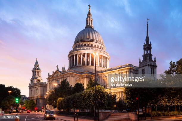 St Paul's Cathedral, Sunset, London, England