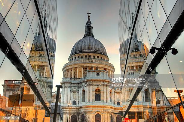 St Pauls Cathedral with reflections