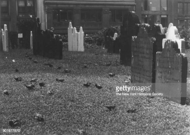 St Paul's Chapel Churchyard, New York, New York, 1929.