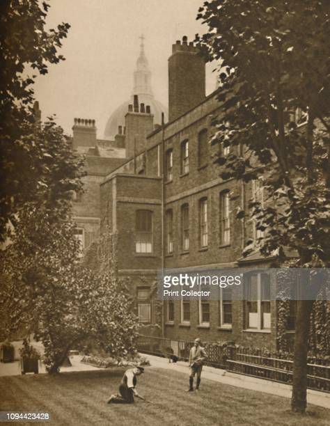 St Paul's Dome Brooding Over The RoofTops of Amen Court' circa 1935 The garden at Amen Corner 17thcentury houses built for the clergymen of St Paul's...