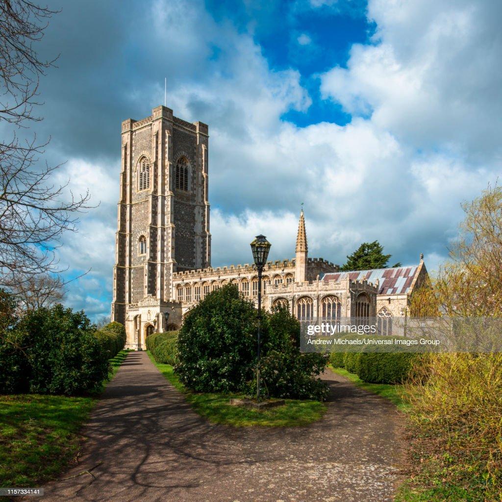 St Peter and St Paul's Parish Church, Lavenham village, Suffolk, England, UK. : ストックフォト