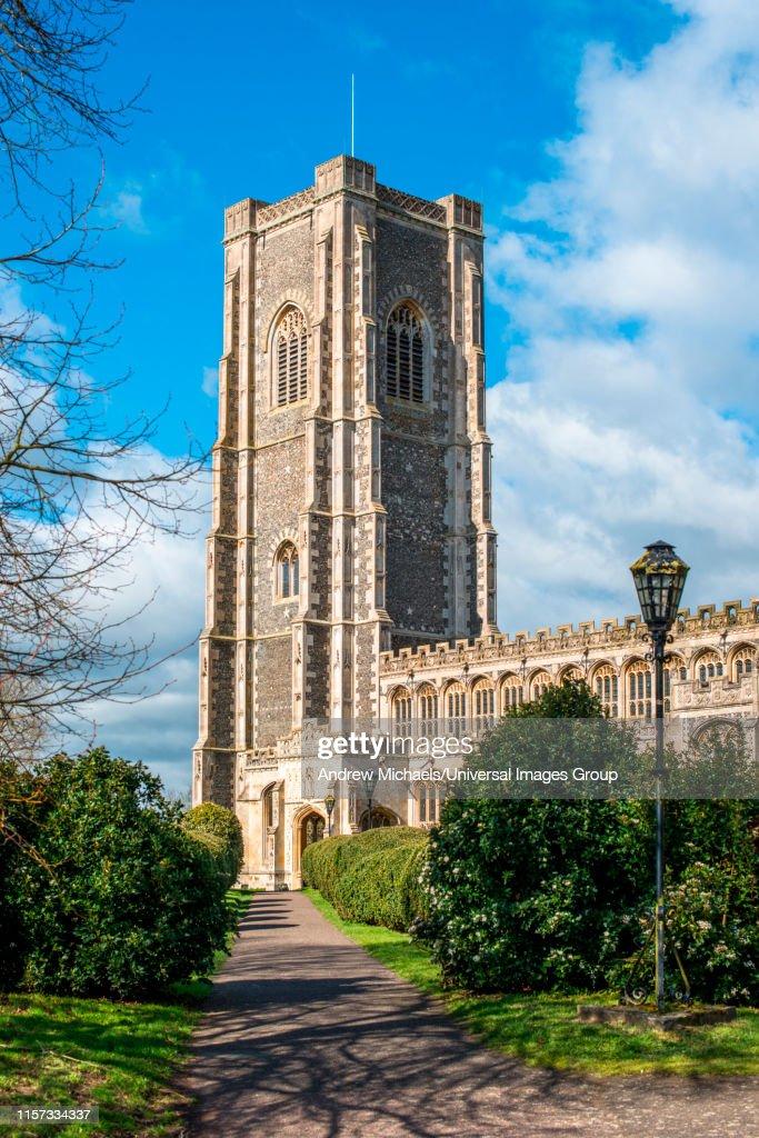 St Peter and St Paul's Parish Church, Lavenham village, Suffolk, England, UK. : Foto de stock