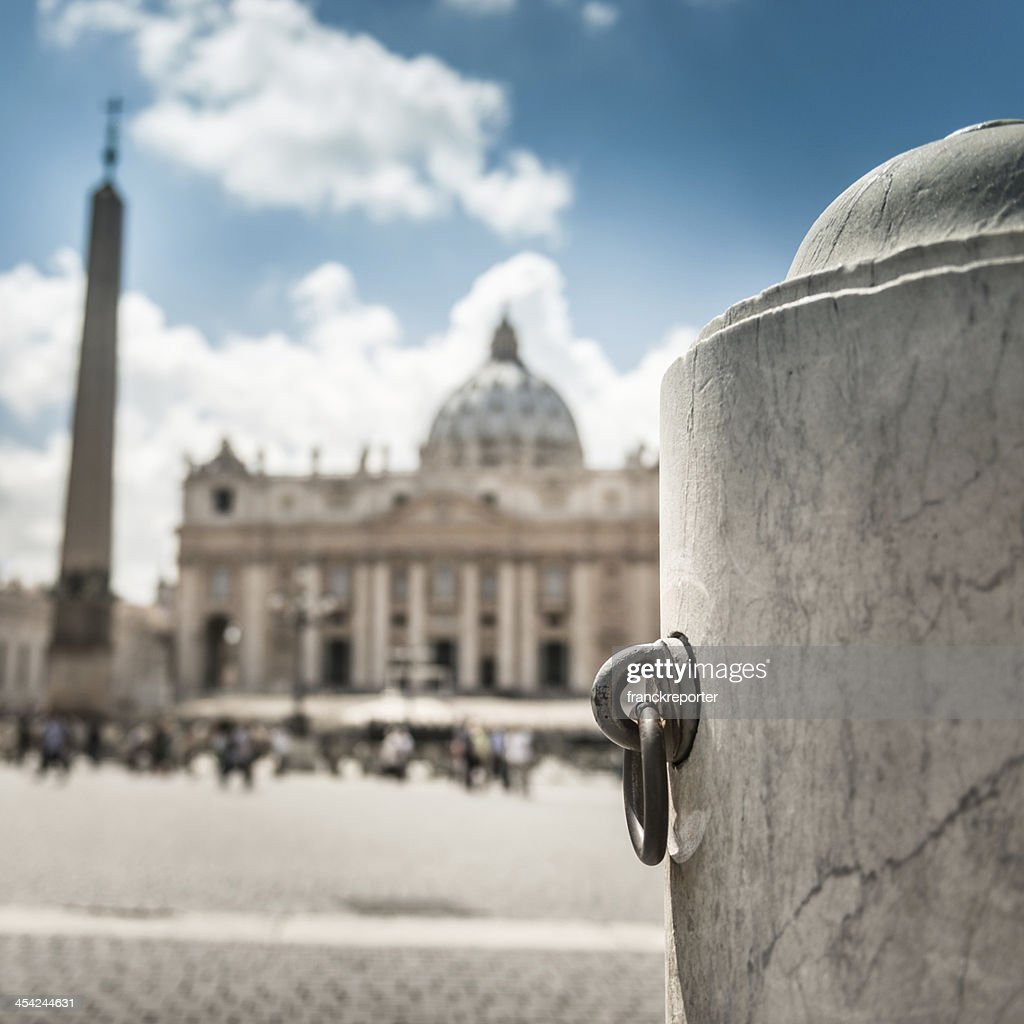St. peter square defocused : Stock Photo