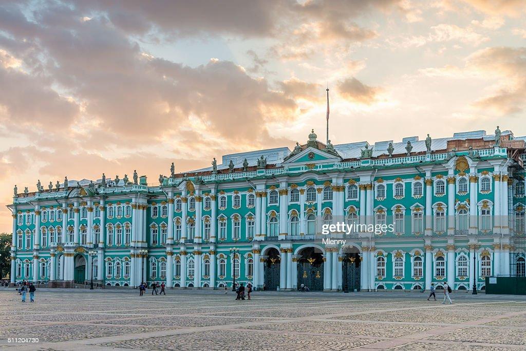 St. Peterburg Winter Palace Summer Twilght Russia : Stock Photo