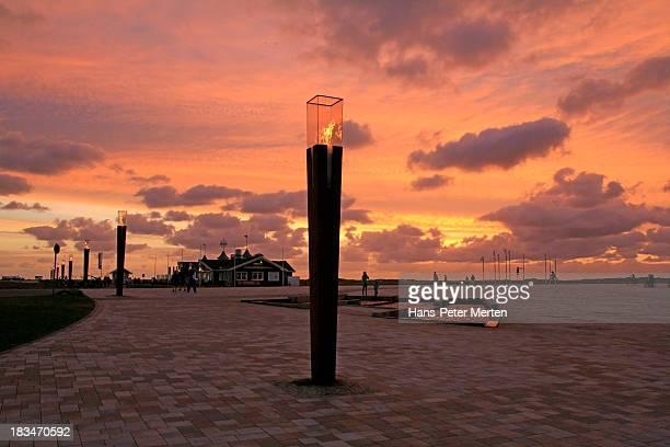 St. Peter-Ording, North Frisia, Promenade, Germany