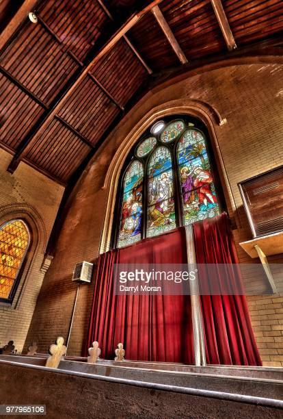 st peters abandoned church (9) - faith moran stock photos and pictures
