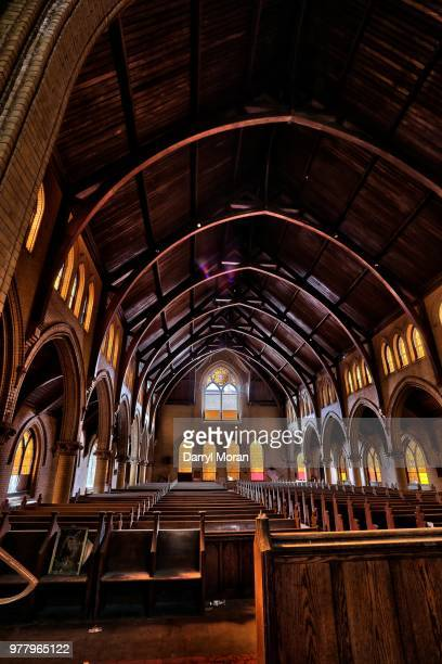st peters abandoned church (10) - faith moran stock photos and pictures
