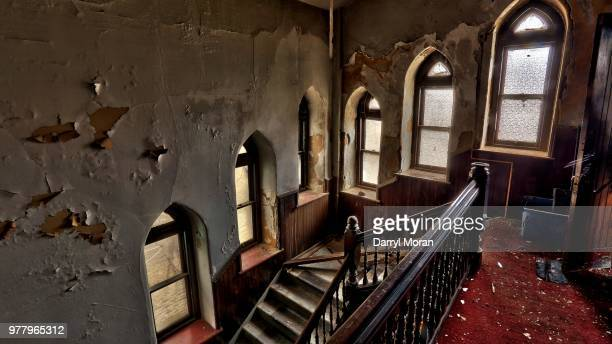 st peters abandoned church (22) - faith moran stock photos and pictures