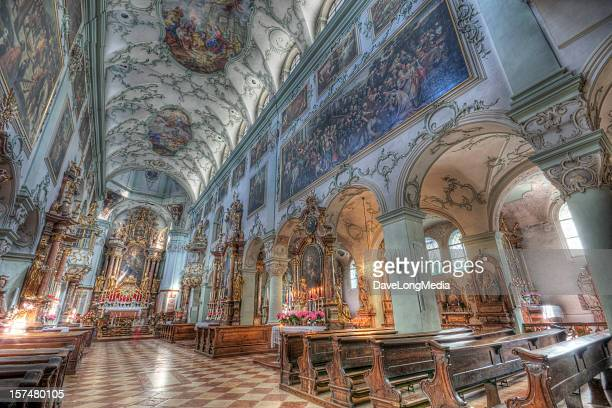 st. peter's abbey church in salzburg - salzburger land stock pictures, royalty-free photos & images