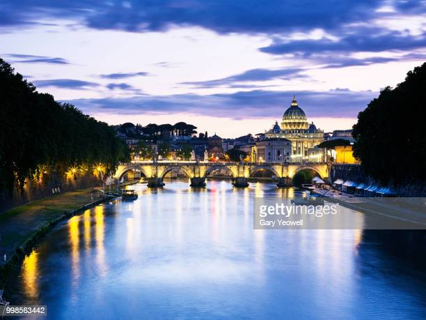 St Peters Basilica and River Tiber in Rome