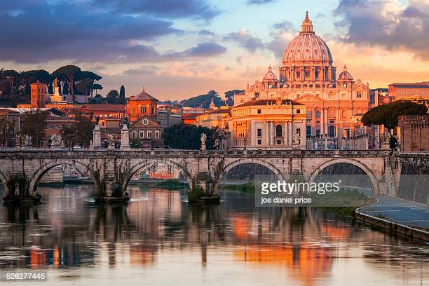 St Peter's Basilica, St Angelo Bridge, Italy