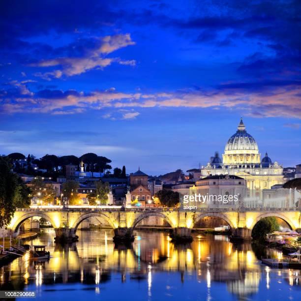 st. peter's basilica, vatican - basilica di san pietro foto e immagini stock