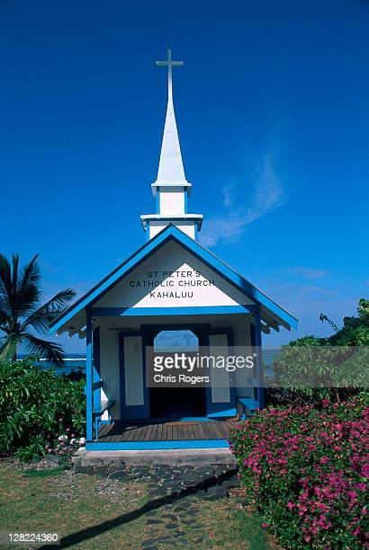 st peter's catholic church, kahaluu, hawaii - faith rogers stock pictures, royalty-free photos & images
