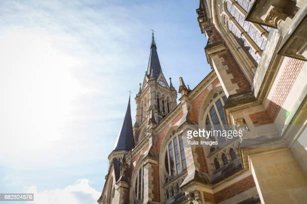 st peters church, or petrikirche, chemnitz - chemnitz stock pictures, royalty-free photos & images