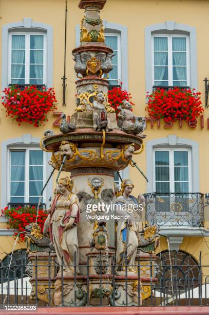 St. Peters fountain on the market square in Trier, Germany.