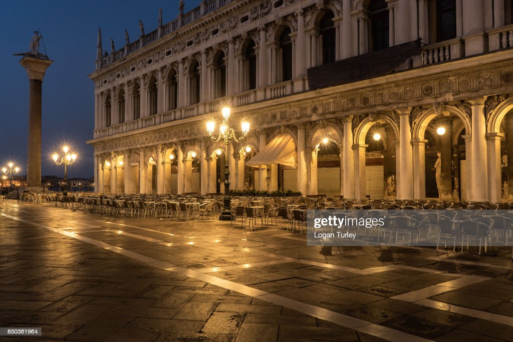 St. Peter's Square At Night : Foto de stock