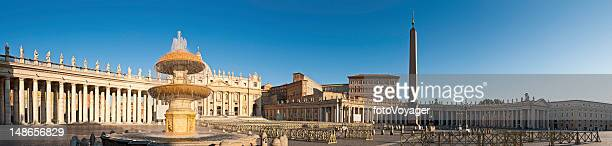 St Peters Square Basilica Vatican City Rome sunrise panorama Italy