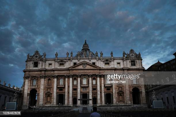 St Peter's Square stands in the dawn light on September 03 2018 in Vatican City Vatican Tensions in the Vatican are high following accusations that...