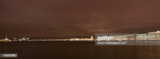st. petersburg embankment - neva river stock photos and pictures