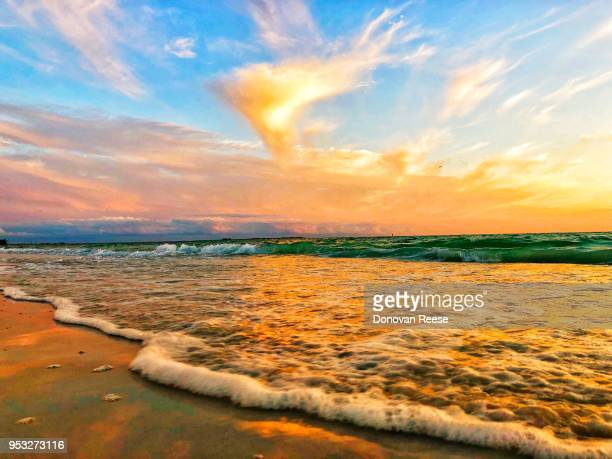 st. petersburg florida.  sunset at the beach - st. petersburg florida stock pictures, royalty-free photos & images
