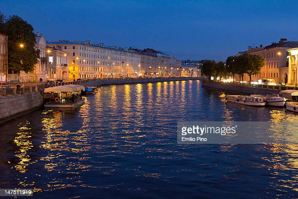 st petersburg in van gogh mood - neva river stock photos and pictures