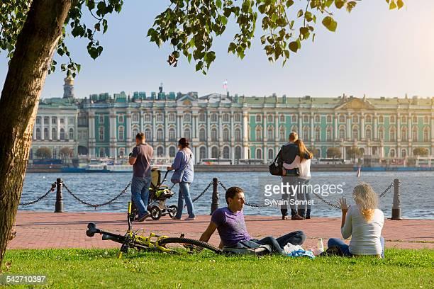 St. Petersburg, relaxing along the Neva River