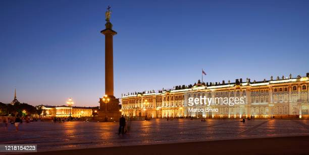 st. petersburg russia. the winter palace in palace square - marco brivio stock pictures, royalty-free photos & images