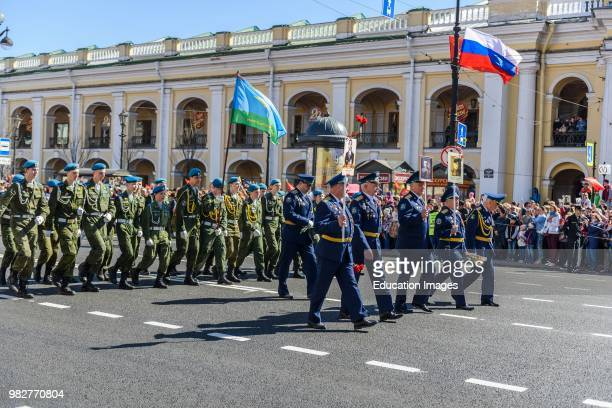 St Petersburg Russia Victory Day celebrations