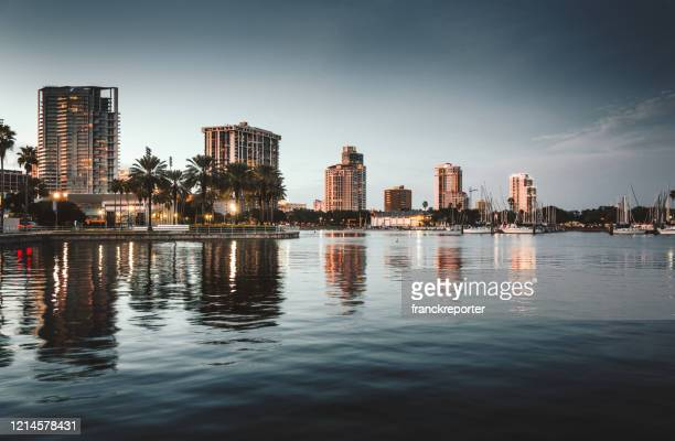 st. petersburg waterfront - st. petersburg florida stock pictures, royalty-free photos & images