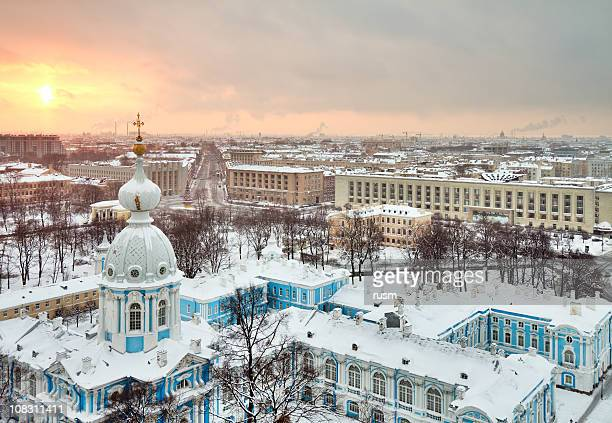 winter Stadt St. Petersburg, Russland