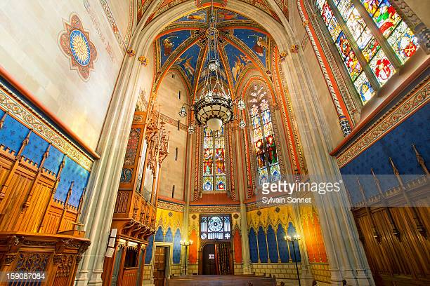 st pierre cathedral, the old town, geneva - cathedral stock pictures, royalty-free photos & images