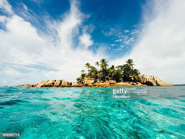 st pierre island - seychelles - la digue island stock pictures, royalty-free photos & images