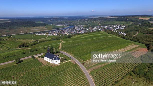 st. roch's chapel near nittel, moselle valley - chapel stock pictures, royalty-free photos & images