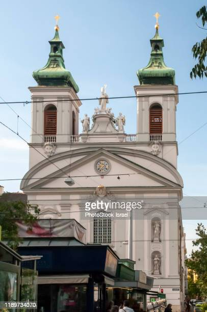 st. roch's church, vienna - hauptstraße stock pictures, royalty-free photos & images
