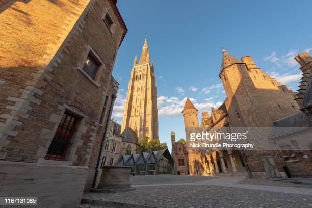 st. salvator's cathedral, bruges, belgium. - 西フランダース ストックフォトと画像