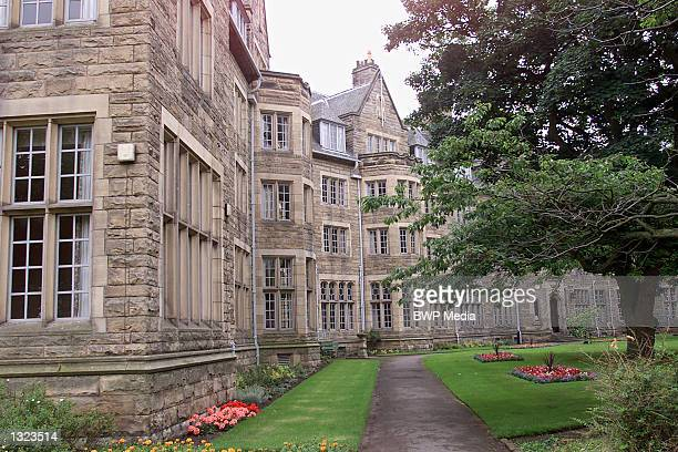St. Salvators Hall, the student accomodation block, stretches around a green lawn July 7, 2001 at St. Andrews University in Fife, Scotland. Prince...