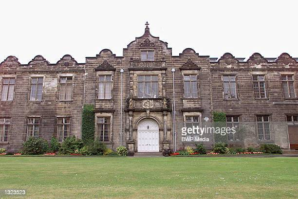 St. Salvators Quad sits on a green lawn July 7, 2001 at St. Andrews University in Fife, Scotland. Prince William is expected to begin attending...